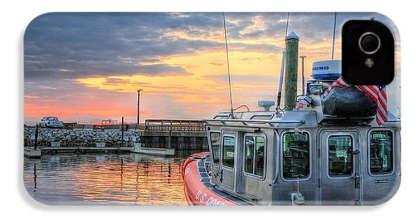 Us Coast Guard Defender Class Boat IPhone 4s Case by JC Findley