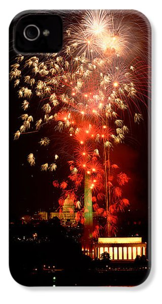 Usa, Washington Dc, Fireworks IPhone 4s Case by Panoramic Images