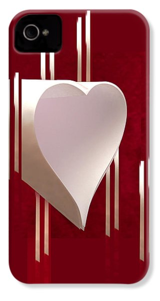 Valentine Paper Heart IPhone 4s Case by Gary Eason