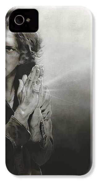 Eddie Vedder - ' Vedder Iv ' IPhone 4s Case by Christian Chapman Art