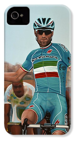 Vincenzo Nibali Painting IPhone 4s Case by Paul Meijering