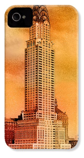 Vintage Chrysler Building IPhone 4s Case by Andrew Fare