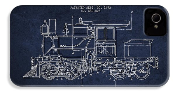 Vintage Locomotive Patent From 1892 IPhone 4s Case by Aged Pixel