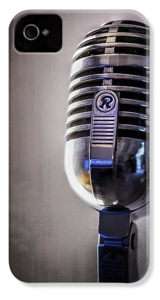 Vintage Microphone 2 IPhone 4s Case by Scott Norris