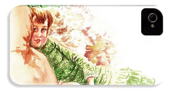 IPhone 4s Case featuring the painting Vintage Study Lilian Of James Tissot by Irina Sztukowski