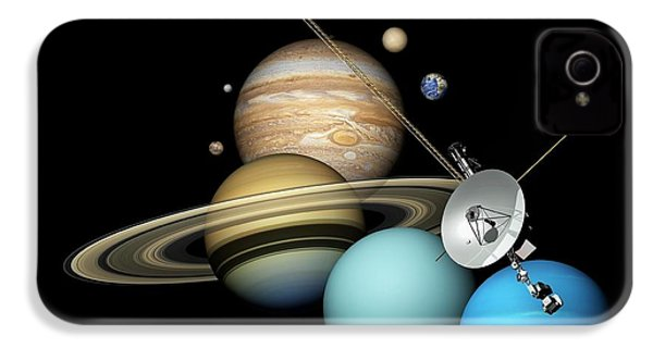Voyager 2 And Planets IPhone 4s Case by Carlos Clarivan