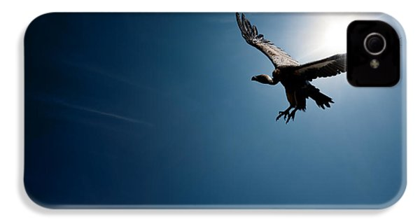 Vulture Flying In Front Of The Sun IPhone 4s Case by Johan Swanepoel