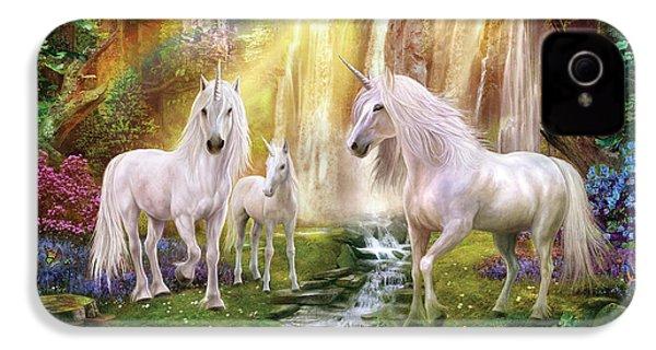 Waaterfall Glade Unicorns IPhone 4s Case by Jan Patrik Krasny