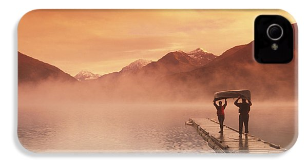 Walking On Dock Robe Lake  Sunrise Sc IPhone 4s Case by Michael DeYoung