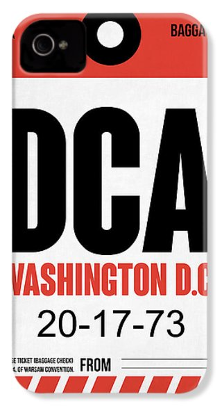 Washington D.c. Airport Poster 1 IPhone 4s Case by Naxart Studio