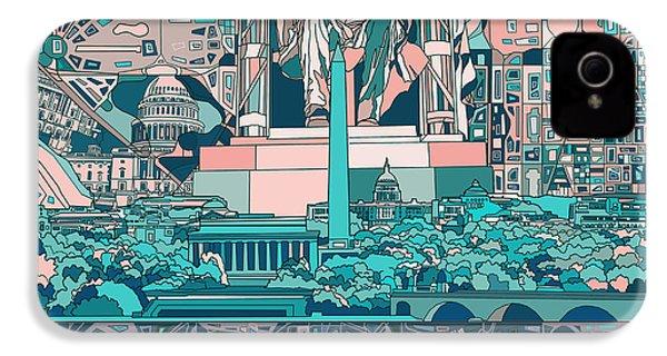 Washington Dc Skyline Abstract 5 IPhone 4s Case