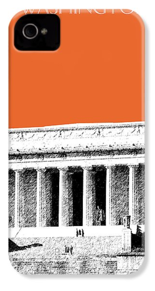 Washington Dc Skyline Lincoln Memorial - Coral IPhone 4s Case by DB Artist