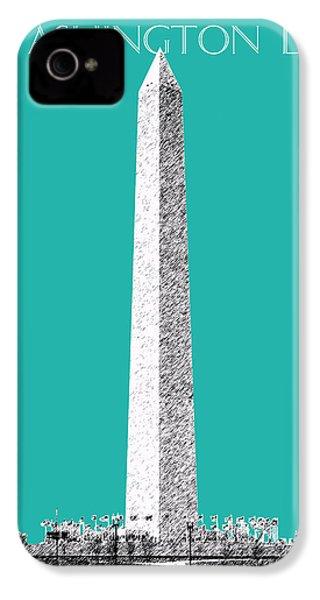 Washington Dc Skyline Washington Monument - Teal IPhone 4s Case by DB Artist