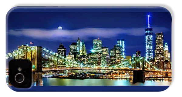 Watching Over New York IPhone 4s Case by Az Jackson
