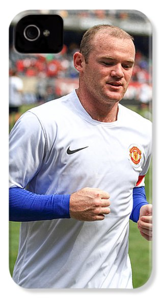 Wayne Rooney 5 IPhone 4s Case by Keith R Crowley