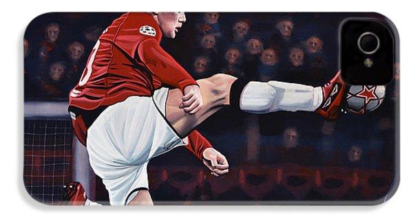 Wayne Rooney IPhone 4s Case by Paul Meijering
