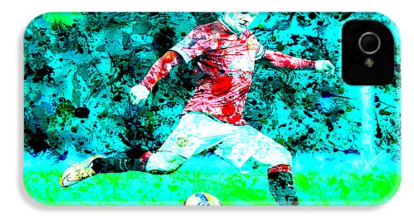 Wayne Rooney Splats IPhone 4s Case by Brian Reaves