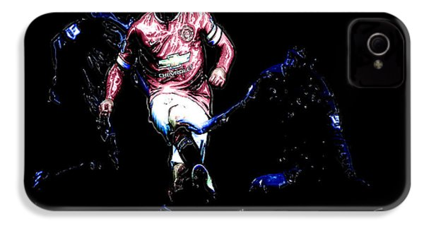 Wayne Rooney Working Magic IPhone 4s Case by Brian Reaves