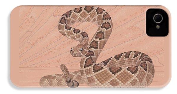 Western Diamondback Rattlesnake IPhone 4s Case by Nathan Marcy