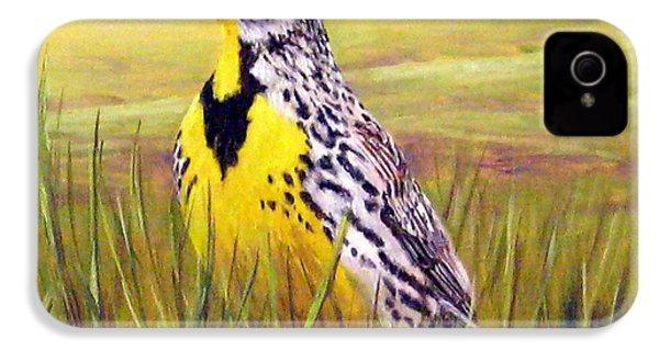 Western Meadowlark IPhone 4s Case by Tom Chapman