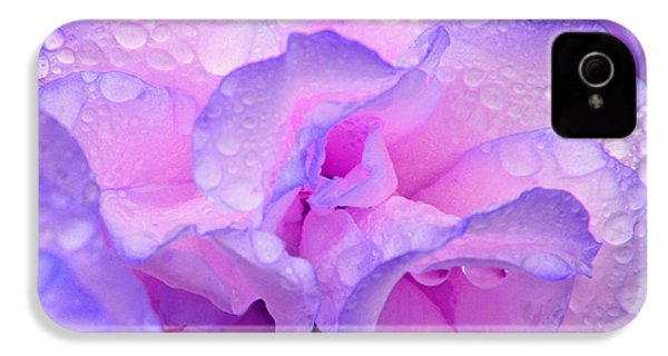 Wet Rose In Pink And Violet IPhone 4s Case by Nareeta Martin