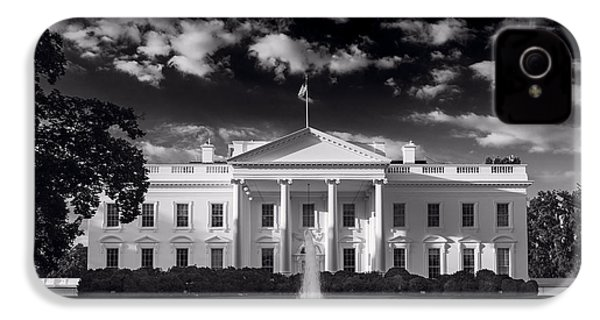 White House Sunrise B W IPhone 4s Case by Steve Gadomski