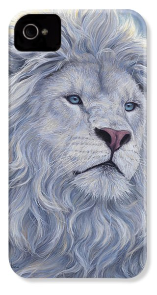 White Lion IPhone 4s Case by Lucie Bilodeau