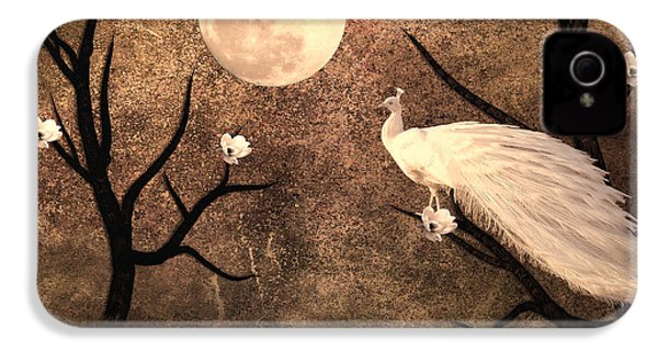 White Peacock IPhone 4s Case by Sharon Lisa Clarke