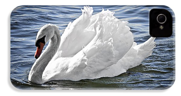 White Swan On Water IPhone 4s Case by Elena Elisseeva