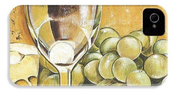 White Wine And Cheese IPhone 4s Case by Debbie DeWitt