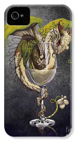 White Wine Dragon IPhone 4s Case by Stanley Morrison