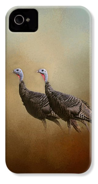 Wild Turkey At Shiloh IPhone 4s Case by Jai Johnson