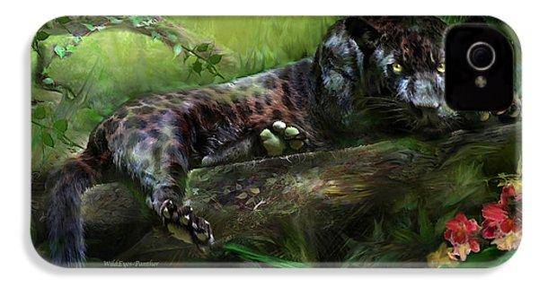 Wildeyes - Panther IPhone 4s Case by Carol Cavalaris