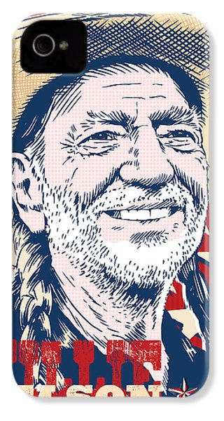 Willie Nelson Pop Art IPhone 4s Case by Jim Zahniser