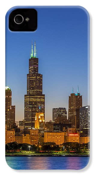 Willis Tower IPhone 4s Case by Sebastian Musial