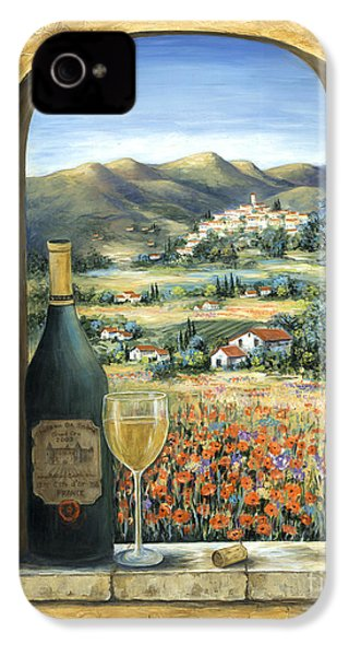 Wine And Poppies IPhone 4s Case by Marilyn Dunlap
