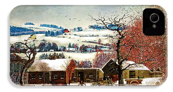 Winter In The Country Folk Art IPhone 4s Case
