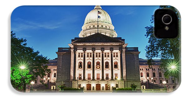 Wisconsin State Capitol Building At Night IPhone 4s Case by Sebastian Musial
