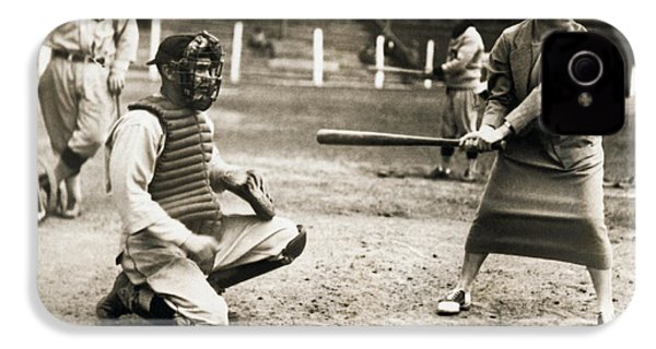 Woman Tennis Star At Bat IPhone 4s Case by Underwood Archives