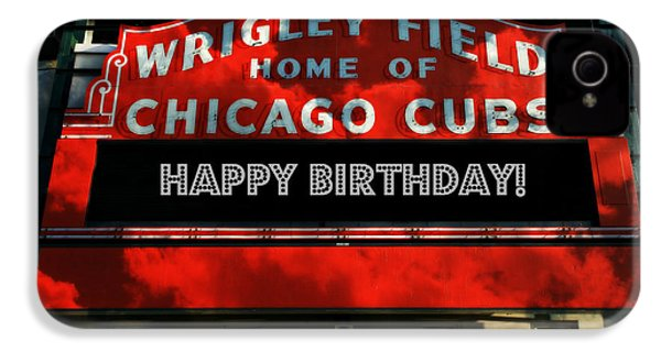 Wrigley Field -- Happy Birthday IPhone 4s Case