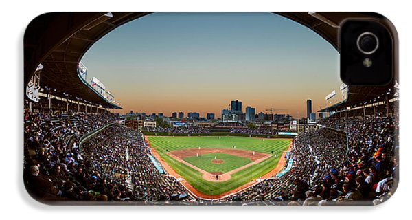 Wrigley Field Night Game Chicago IPhone 4s Case by Steve Gadomski