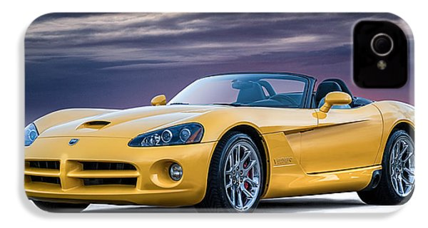 Yellow Viper Convertible IPhone 4s Case by Douglas Pittman