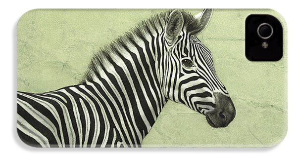 Zebra IPhone 4s Case by James W Johnson