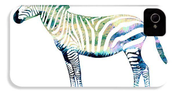Zebra  IPhone 4s Case by Watercolor Girl