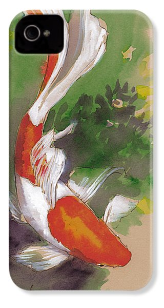 Zen Comet Goldfish IPhone 4s Case by Tracie Thompson