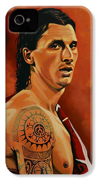 Zlatan Ibrahimovic Painting IPhone 4s Case by Paul Meijering