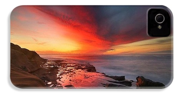 Long Exposure Sunset In La Jolla IPhone 4s Case by Larry Marshall