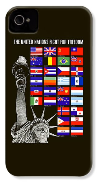 Allied Nations Fight For Freedom IPhone 4s Case by War Is Hell Store