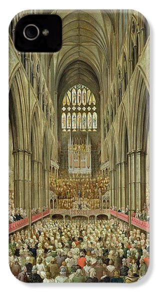 An Interior View Of Westminster Abbey On The Commemoration Of Handel's Centenary IPhone 4s Case by Edward Edwards