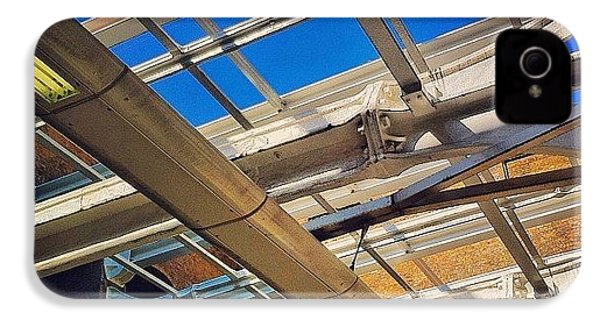 #bluesky #railway #station #trains IPhone 4s Case by Samuel Gunnell